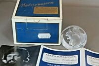 Boxed Mats Jonasson Signature Collection Squirrel Crystal Glass Paperweight
