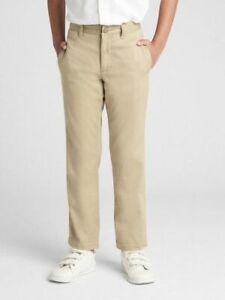 Gap NWT Boys Khaki / Navy / Black Straight Stretch School Uniform Pants $35