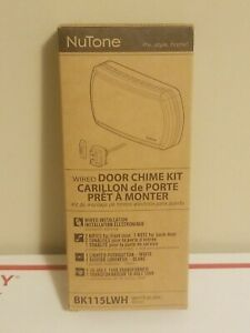 NOS - BK115LWH NuTone Chime Kit 2 Notes Complete In box - WHITE