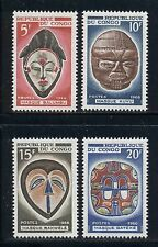 CONGO (ex French) MNH Selections: Scott #153-156 Folklore Masks Art CV$2+
