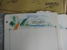 10 Vintage White Ace Blank Ireland Postage Stamp Album Pages new in envelope 50s