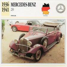 1936-1941 MERCEDES BENZ 230 Classic Car Photograph / Information Maxi Card