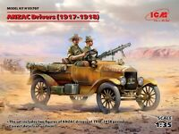ICM 35707 - ANZAC Drivers (1917-1918) (2 figures) - 1/35 SCALE MODEL KIT
