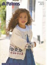 Lovely double knitting pattern for childs fair isle border cardigan 20in- 34in