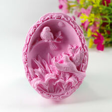 Birds S450 Silicone Soap molds Craft  DIY Handmade soap Mold Mould