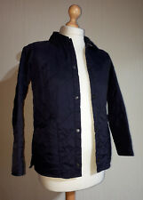 """Barbour Quilted Jacket """"Liddesdale"""" Boys Size L 10/11 Years Navy Blue"""