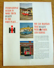 1962 IH International Harvester Trucks Ad  Quality with Parts & Service
