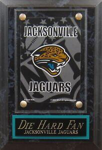 DIE HARD FAN JACKSONVILLE JAGUARS LOGO CARD PLAQUE FOR YOUR MAN CAVE WALL DECOR