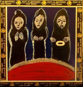 THREE FATES Raw Folk Art Brut Painting Outsider T. Marie Nolan Original Vision