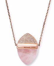 MICHAEL KORS MKJ5252791 Rose Gold Tone Blush Rush Stone Crystal Women Necklace