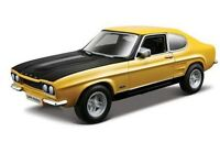 BBURAGO FORD CAPRI RS2600 diecast model road car red yellow 1970 1:32nd scale