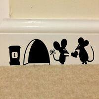 Mouse Hole Vinyl Mural Wall Art Sticker Decals Kids Nursery Room Home Decor swuk