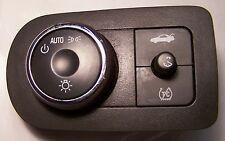 2006-11 GM Impala headlight switch (Black) With Traction Control, W/O Fog Lamps