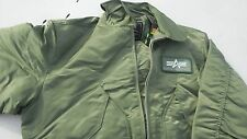 USAF CWU-45P Flight Jacket 100% Nylon Size  large  MFG ALpha Industries NWT