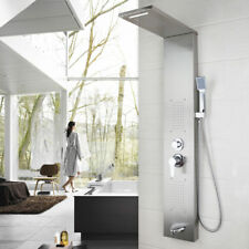 Nickel Bath Multi Function Shower Panel With Handshower Spary Wall Mounted-2