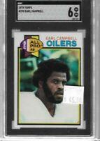 Earl Campbell 1979 Topps rookie vintage card SGC 6 -- Oilers