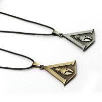 Assassins Creed Odyssey Bronze Silver Necklace Metal Pendant
