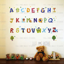 52pcs Animal Alphabet Wall Sticker Decal Child Kids Nursery Baby Room Wall Decor