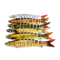 12 Colors Multi Jointed Fish Lure 19g Plastic Hard Bait Swimbait Tackle Outdoor