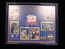 New York Yankees 12″ x 9 + 1/2″ 6x Autographed Upper Deck Display