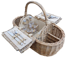 Luxury 4 person boat picnic hamper basket