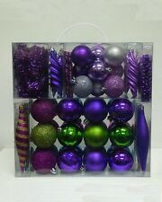 60PC Christmas Baubles Peacock Colours