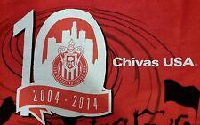 CHIVAS USA Game Giveaway Red Fan Towel 2014 Promo vs FC Dallas - MLS Soccer