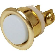 Unlighted flush mount door chime button, brass rim