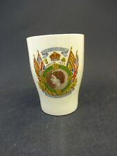 Commemorative China Beaker: Queen Elizabeth II 1953 Coronation: Kent/ Invicta