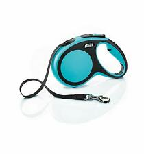 Flexi Comfort Retractable Tape Leash for Dogs Up to 55 Pounds Medium Blue 16Feet