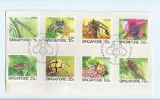 Stamp - 8 pcs. 24 April 1985 Singapore  Insects Series 5 c to 75 c CTO on paper