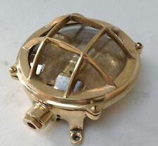 Nautical Marine Small Solid Brass Ship Bulkhead Wall Light - For Halloween Light