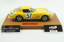 1/18 BBR FERRARI 275 GTB YELLOW 24HR LEMANS 1966 CAR#57 BROWN DELUXE LEATHER  MR