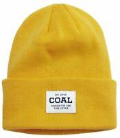 Coal Headwear THE UNIFORM Unisex 100% Acrylic Cuffed Beanie Golden Rod NEW