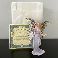 Bradford Exchange Garden Fairies Graceful Beauty Fairy Figurine Mip w Coa 6.75in