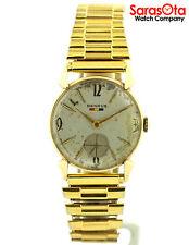 Vintage Benrus Expansion Bracelet 14K Yellow Gold Hand Winding Dress Men's Watch