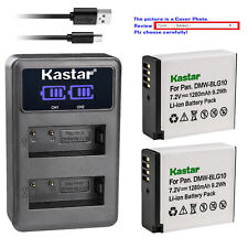 Kastar Battery LCD Dual Charger for DMW-BLG10 BLG10E & Panasonic Lumix DMC-GX85