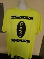 Crayon T-Shirt Short Sleeve Super Bright Neon Adult XL EUC