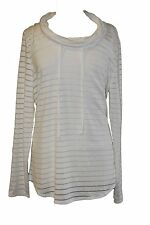 Chelsea & Theodore Women's Size X-Large Long Sleeve Top With Tank, White