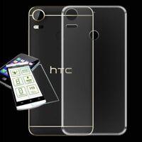 Para HTC Desire 10 pro Funda de Silicona Bolsa Transparente + 0,3 H9