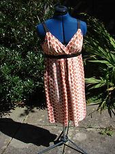 BNWT John Lewis size 12 printed linen mango sleeveless linen dress / kaftan