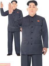 Mens Dictator Costume Adults Kim Jon-Un Fancy Dress North Korea Halloween