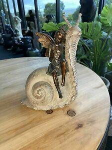 Palmyra Fairy on Snail Décor Ornament Home Decoration