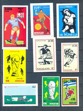 FOOTBALL LOT 9 MINI BLOCKS WW MNH