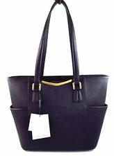 Calvin Klein Saffiano Leather Shoulder Tote Shopper Bag H6DA15ET Black Nwt $238