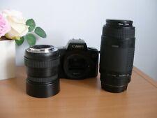 Canon EOS 1000F Film Camera & 2 Lenses untested   - (ref T18)