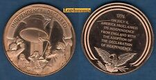 Médaille Histoire des USA - INDEPENDENCE DECLARED 4 July 1776 04/07/1976