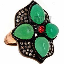 Antique Finish 2.21cts Rose Cut Diamond Gemstone Studded Jewelry Amazingly Ring