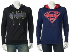 Batman Superman DC Comics Pullover Sweatshirt Hoodie - Men's L - New w/Tags!