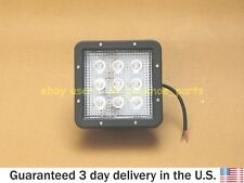 JCB BACKHOE - 12V SQUARE WORKING LIGHT ASSEMBLY, 9 POWER LED